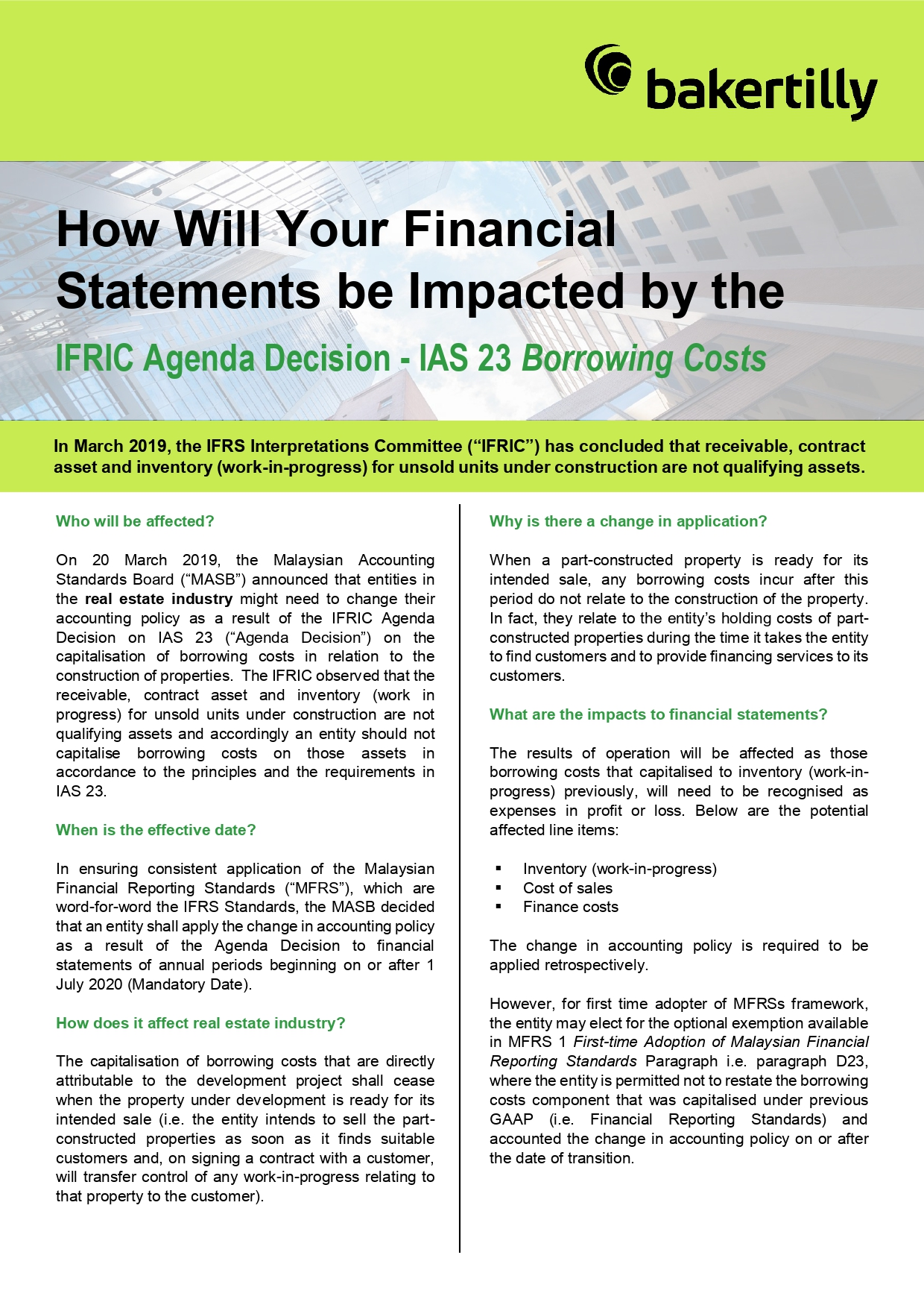 How Will Your Financial Statements be Impacted by the IFRIC